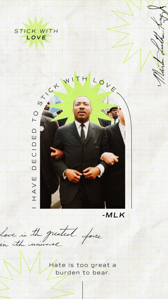 Martin Luther King Jr. Retro Poster Design Stick With Love Brittany Davis