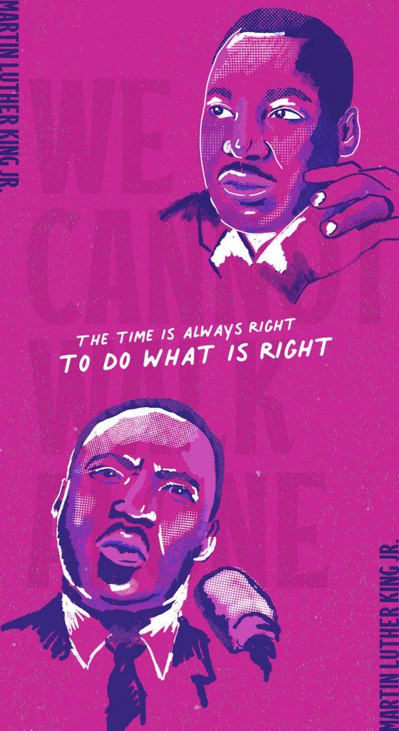 MLK We Cannot Walk Alone Poster Illustration Nicole Pilowski