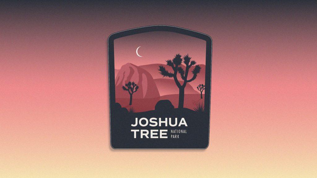 Joshua Tree National Park Sticker and Patch by Brittany Davis Gigasavvy