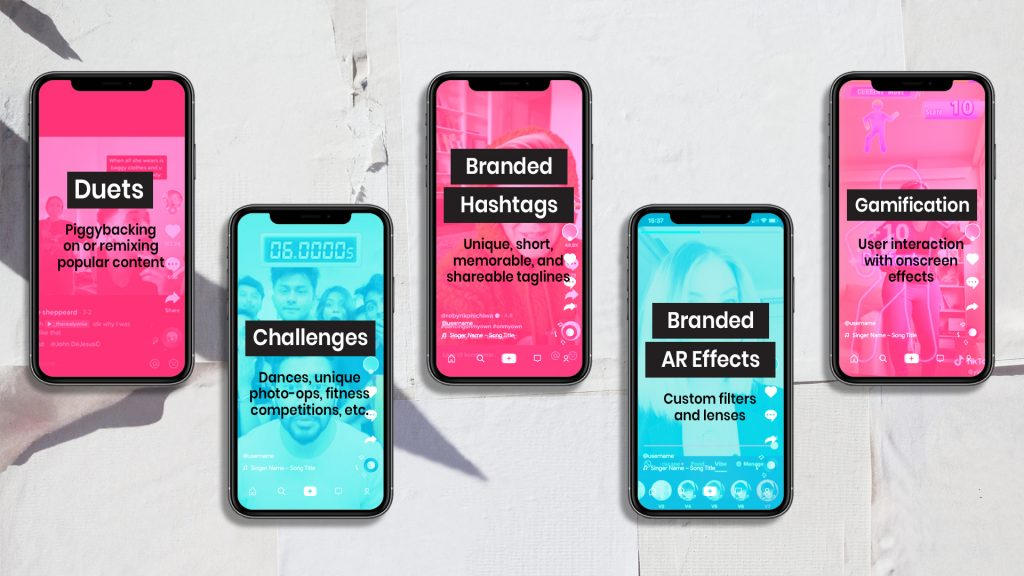 TikTok Duets Challenges Branded Hashtags AR Effects Gamification