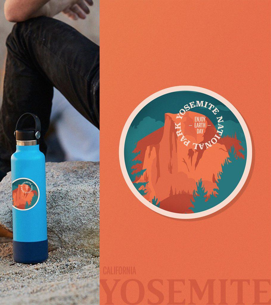 Yosemite National Park Sticker by Nicole Pawloski Gigasavvy