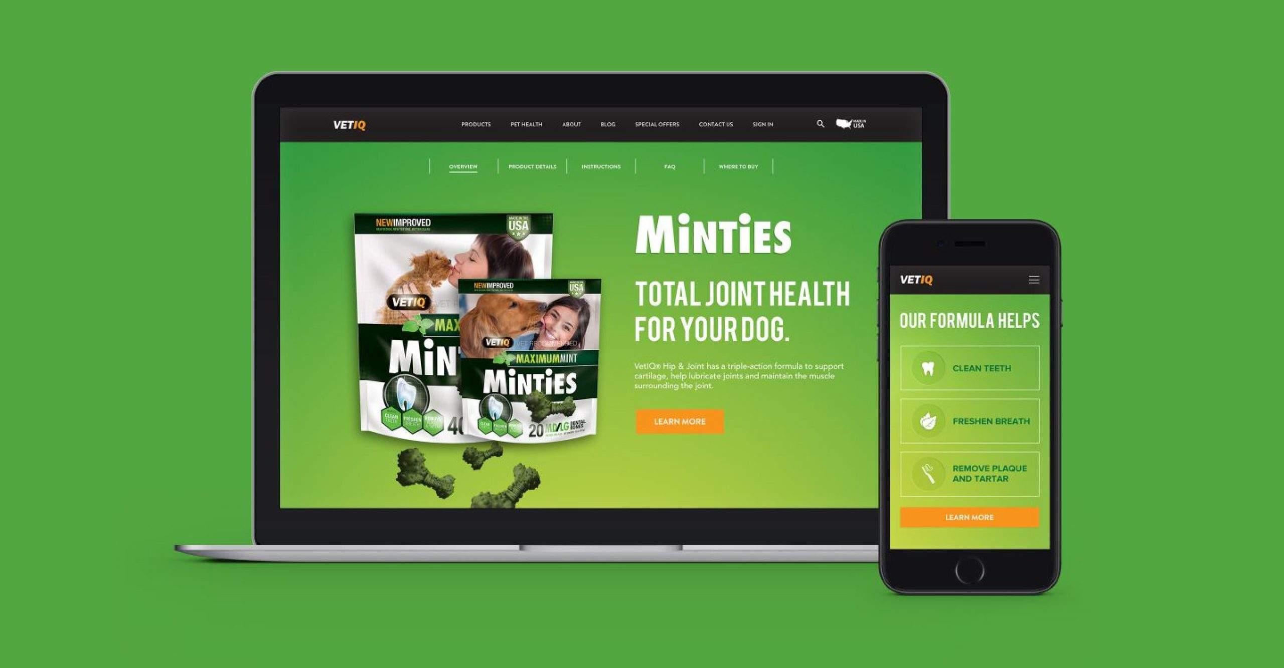 VetIQ Website-mock 1